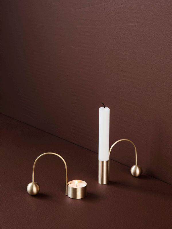 Balance Tealight Holder - Brass 2