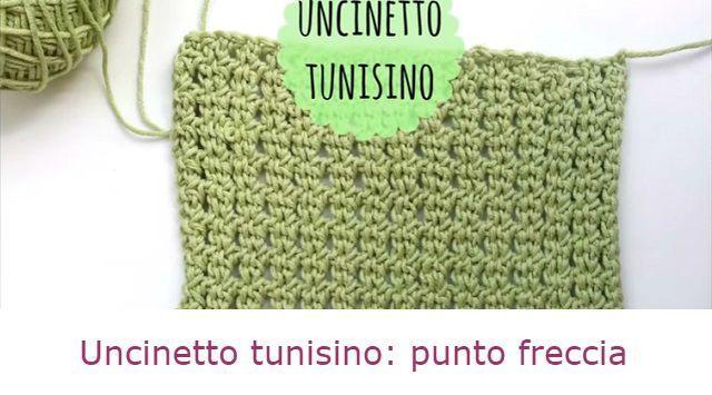 Un tutorial in italiano che spiega come fare il punto freccia con l'uncinetto tunisino. Un punto lavorato perfetto per sciarpe e scaldacollo.