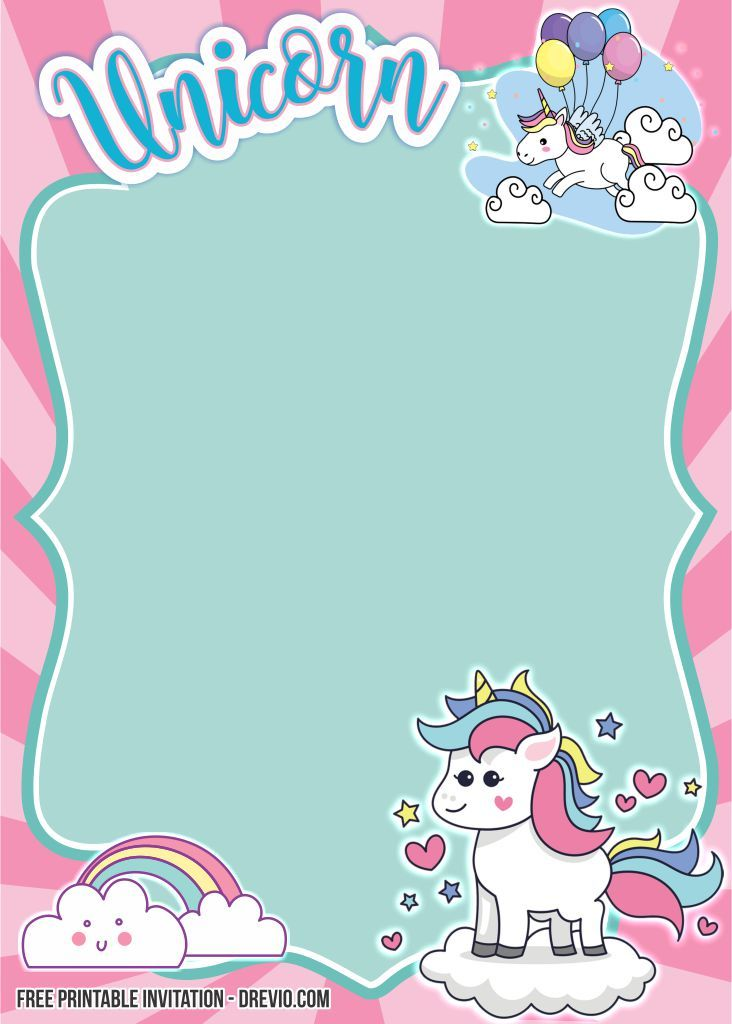 Free Fancy Unicorn Invitation Templates Unicorn Invitations Free Printable Birthday Invitations Unicorn Birthday Invitations