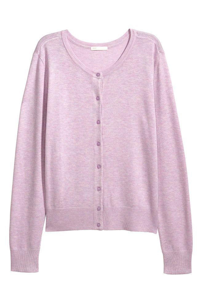 Cardigan tricotat fin - Mov-deschis - | H&M RO 2
