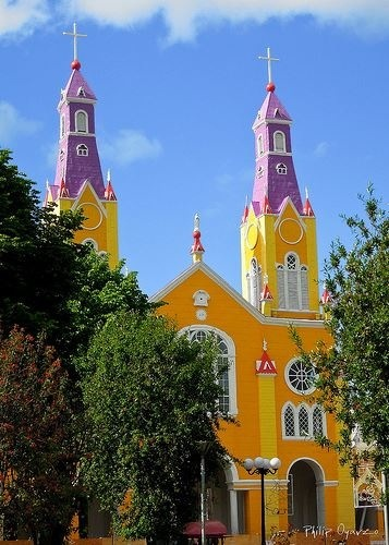 Church of Castro, Chiloe, Chile