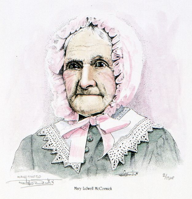 MARY LIDWELL MCCORMICK - HAND TINTED by Artist Ronald Suchiu