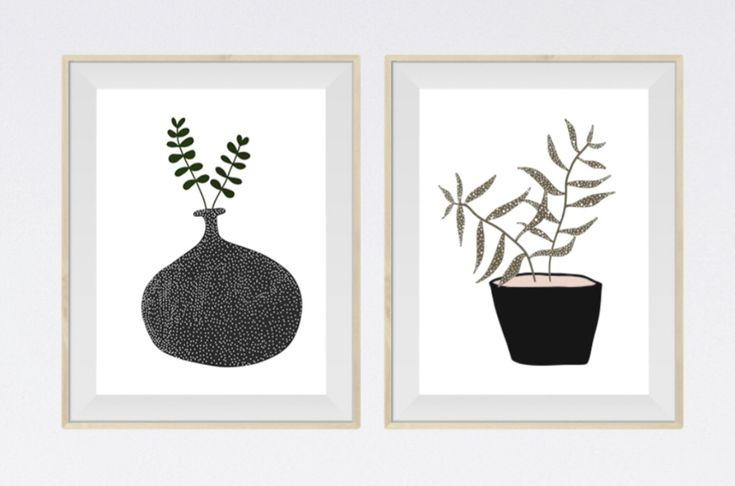 Plants in pots with dots ⚫️⚫️