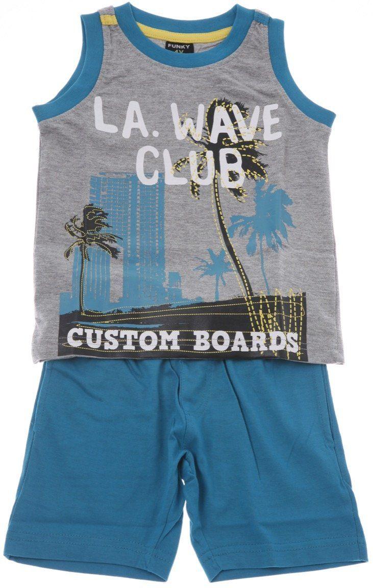 Funky παιδικό σετ μπλούζα-παντελόνι βερμούδα «Wave Club» - Παιδικά ρούχα AZshop.gr