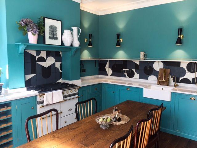 Upminster Kitchen - DeVol. Interior design - Owl Design. Tiles - Puzzle by Mutina, designed by Barber & Osgerby
