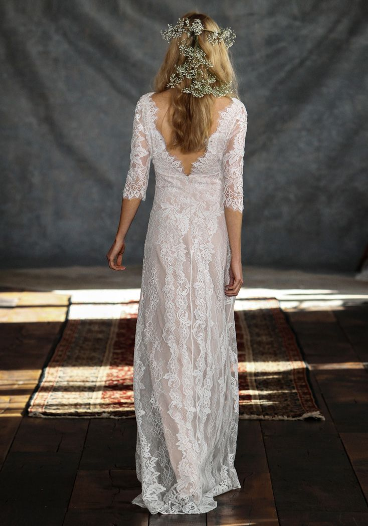 Another one from Claire Pettibone that's totally my style!  Romantique | Patchouli | Bohemian Rhapsody Collection #affordableweddingdress #designerdresses