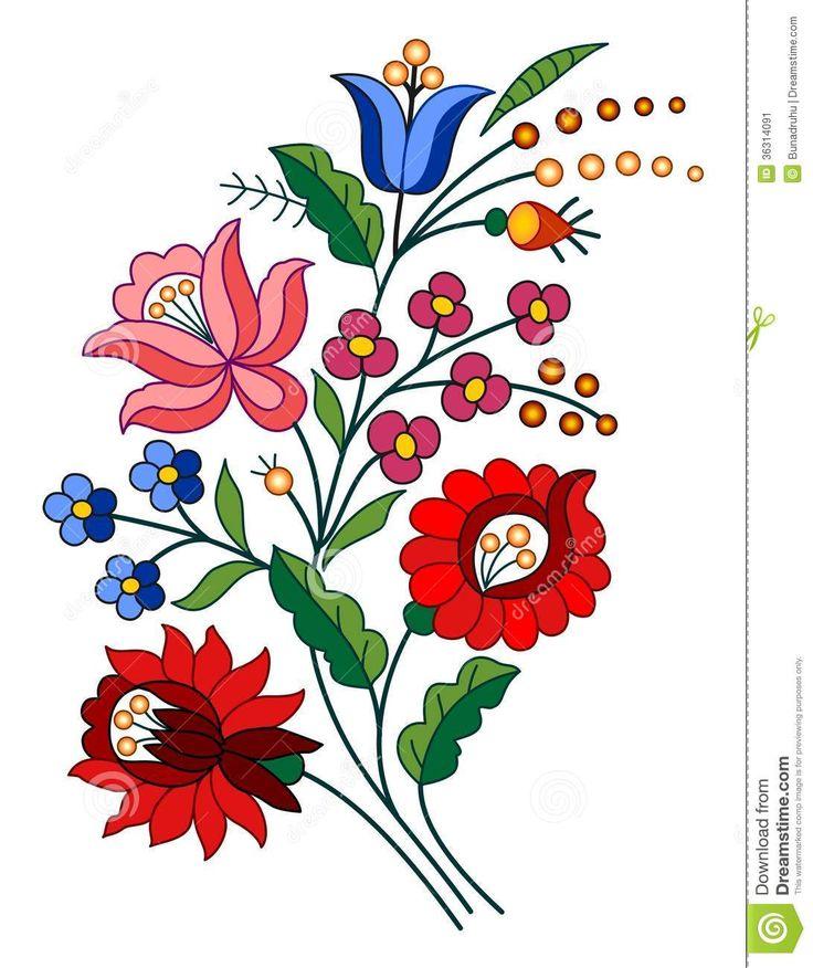 Hungarian Folk Motif Stock Image - Image: 36314091
