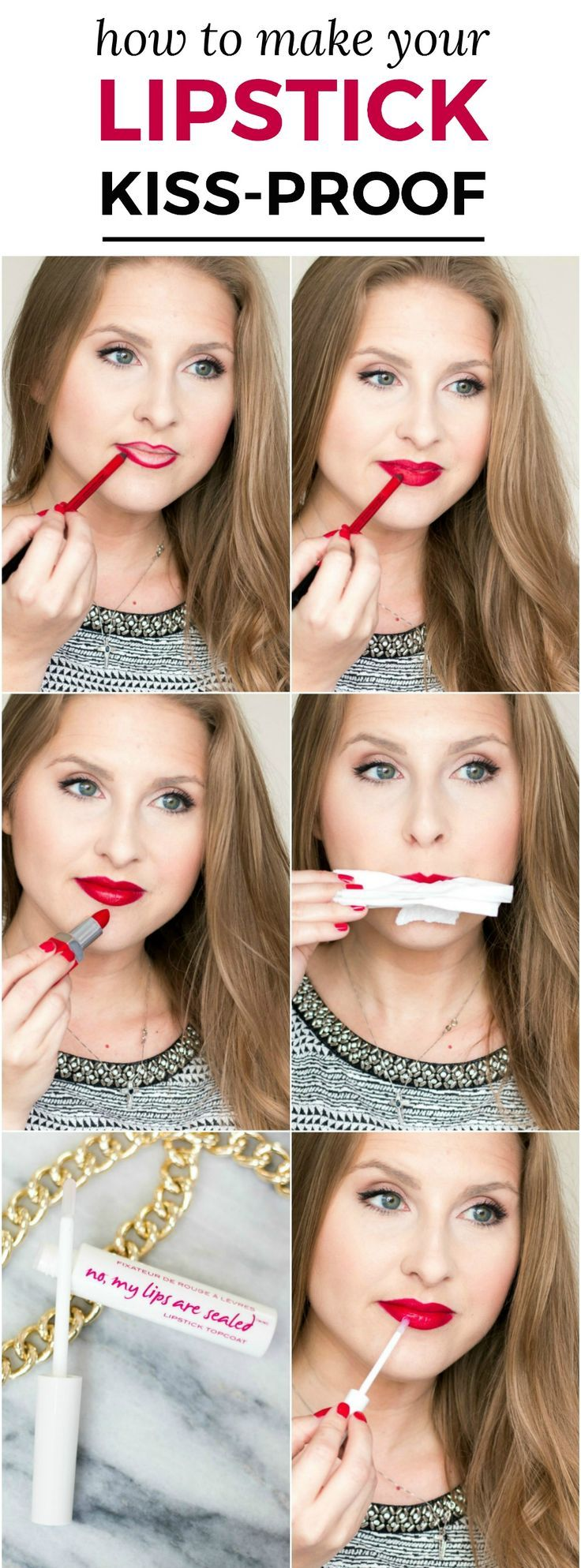 Kiss-Proof Lips Tutorial: Learn how to make your lipstick last longer and become smudge-proof and kiss-proof with one amazing product from @knowcosmetics  in this easy makeup tutorial from Florida beauty blogger Ashley Brooke Nicholas! #itworksbeautifully sponsored