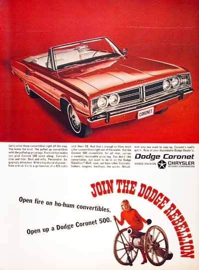 1966 Dodge Coronet 500 Convertible original vintage ...