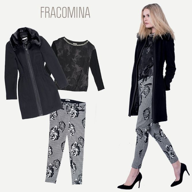 What to wear to the office? Here's a basic and glam look: long coat, printed shirt and floral pants to match with low or high pumps. Coat>http://goo.gl/bgDYXX Shirt>http://goo.gl/elRwHa