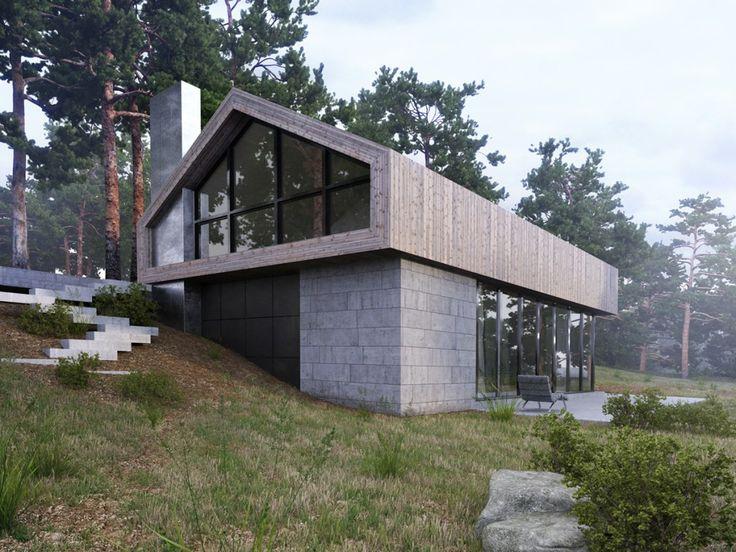 Forest House / Aleksandra Nuzhnaya – nowoczesna STODOŁA   wnętrza & DESIGN   projekty DOMÓW   dom STODOŁA