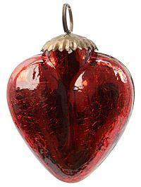 Елочное украшение РОЖДЕСТВЕНСКОЕ СЕРДЦЕ, красное, стекло, 7,5 см, KAEMINGK