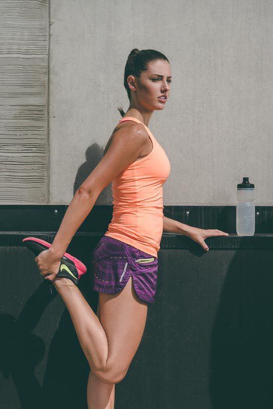Woman Quad Stretch   Fitness Test shoot by Matt Korinek   Photographer
