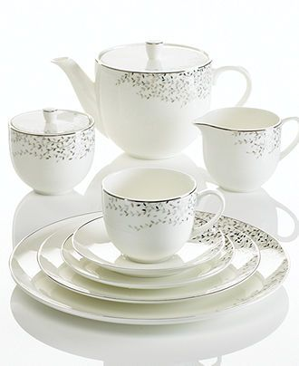 Mikasa Shimmer Vine Dinnerware Collection - Fine China - Dining & Entertaining - Macy's
