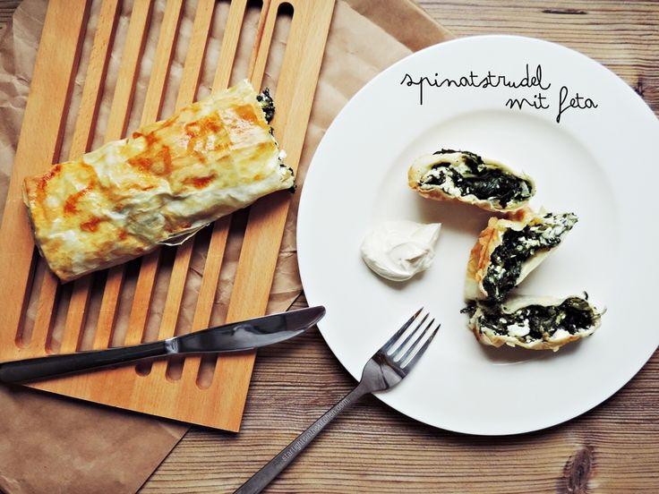 Schnelle Küche: Spinatstrudel mit Feta