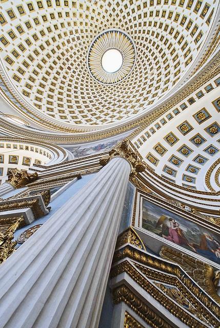 Malta - Mosta - Dramatic Church Interior │ #VisitMalta visitmalta.com