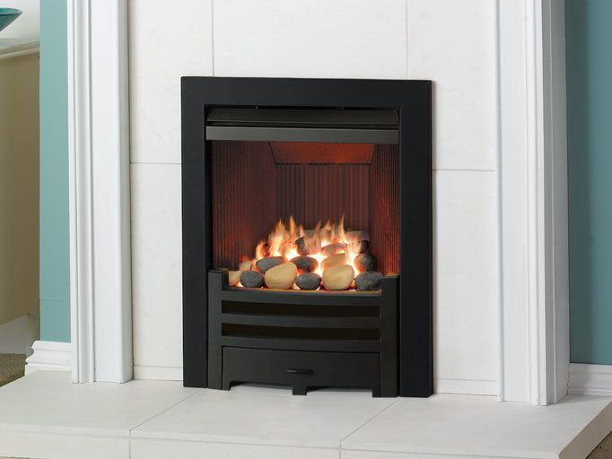E-Box™, Balanced Flue, Natural Gas, Pebble Effect c/w Black Arts Fret and Frame | eBay