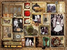 Let's Capture Our Memories: Display Your Memories the Tim Holtz Way