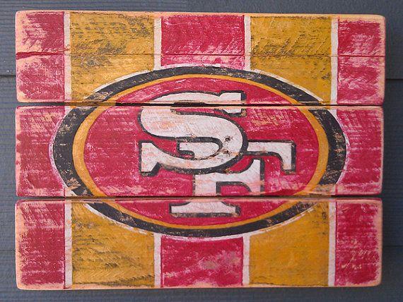 San Francisco 49ers Vintage looking sign by HotShotPalletworks