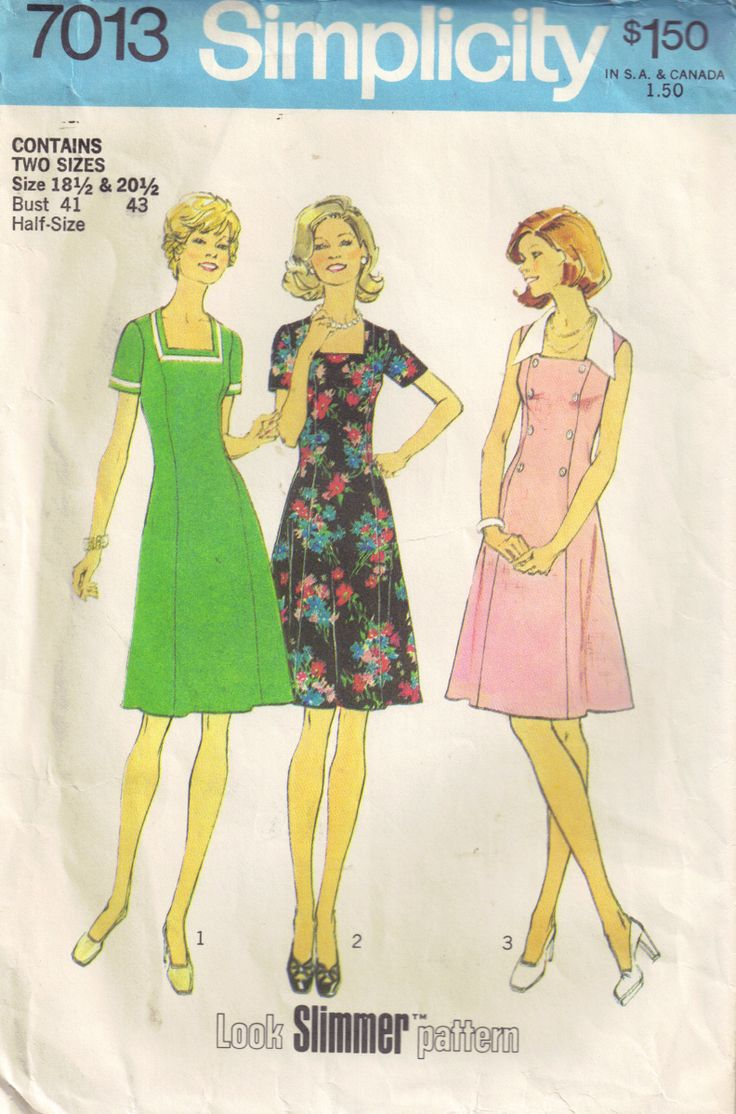 simplicity patterns | Simplicity 7013 c1975 This is one of my first memories of the dresses my mom used to make.  I suppose I inherited her desire to sew.  Thanks, mom, for that.