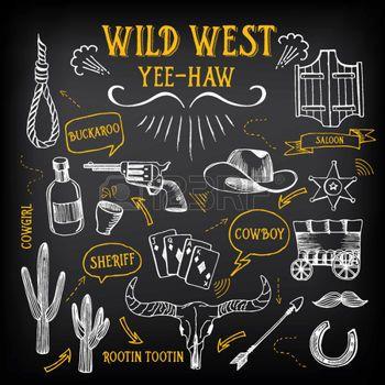 Saloon western wild west esquisse ic nes dessin des - Dessin saloon ...