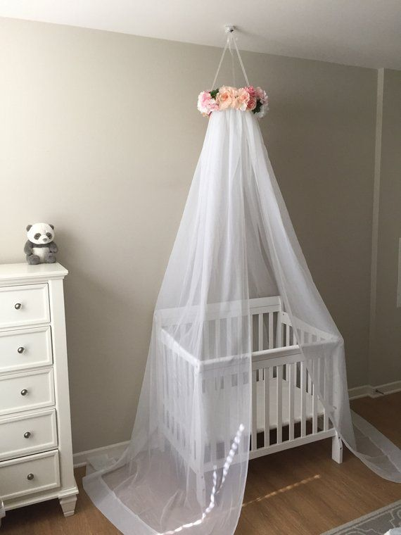 Princess Canopy Bed Canopy Crib Canopy Princess Bed Flower Etsy