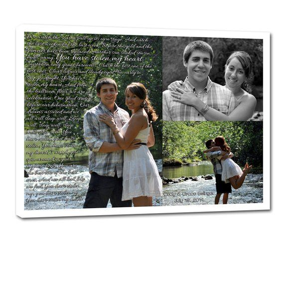 Holiday Gift Couples Photos Collage Custom Canvas –  Gift for Boyfriend – Unique decor 10X10