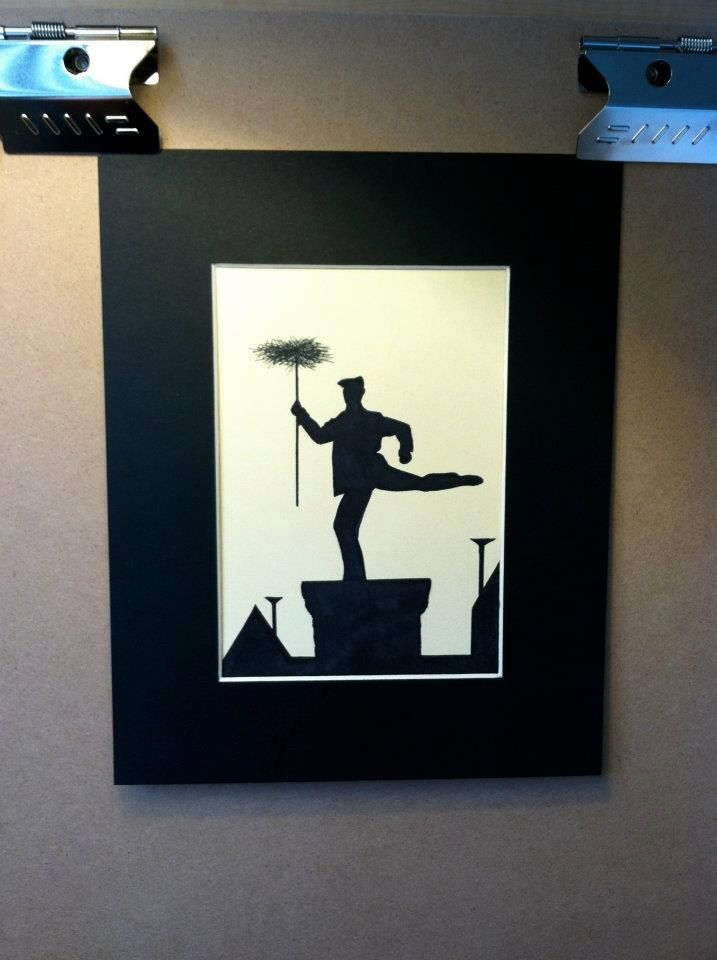 Disney Mary Poppins Chimney Sweep Silhouette Disney