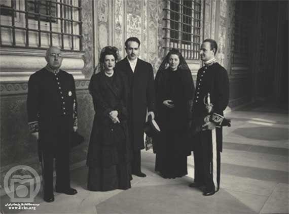 Princess Shams Pahlavi and his husband in Vatican