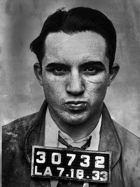 "Meyer Harris ""Mickey"" Cohen (September 4, 1913 – July 29, 1976) was a gangster based in Los Angeles and part of the Jewish Mafia, and also had strong ties to the Italian American Mafia (especially the Los Angeles crime family) from the 1930s through 1960s. As a teenager, Cohen began boxing in illegal prizefights in Los Angeles. In 1929, the 15-year-old moved from Los Angeles to Cleveland to train as a professional boxer. His first professional boxing match was on April 8, 1930 against Patsy…"