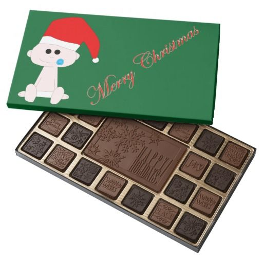 #Baby #Santa #Chocolate #Box  for you at www.zazzle.com/superdumb #zazzle #superdumb #christmas #xmas #claus
