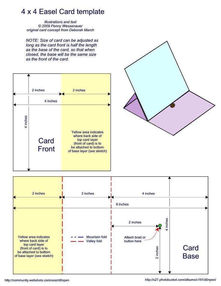 4x4 easel card