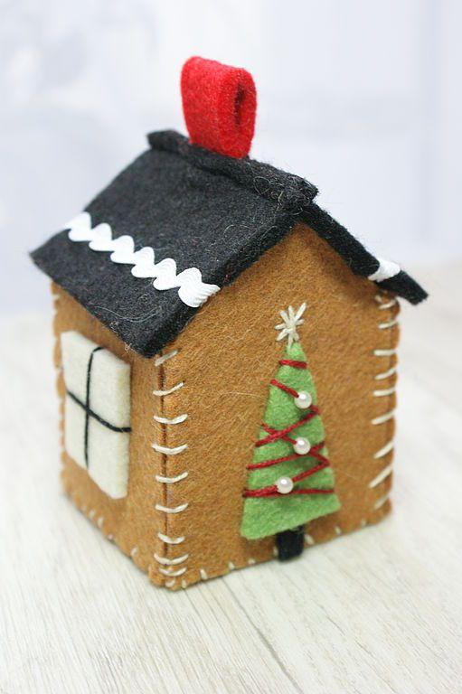 Купить Новогодние домики - подарок на новый год, Новый Год, сувенир, новый год 2014, домик