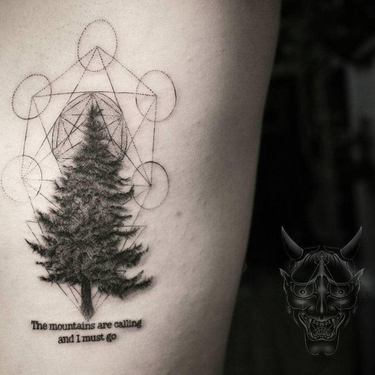 """Pine tree #symbeos #blackclawneedle #waverlycolorco #deathlesscords Vhuynh2911@gmail.com  #sanfranciso #losangeles #california #tattoo #bodyart #skinart…"""