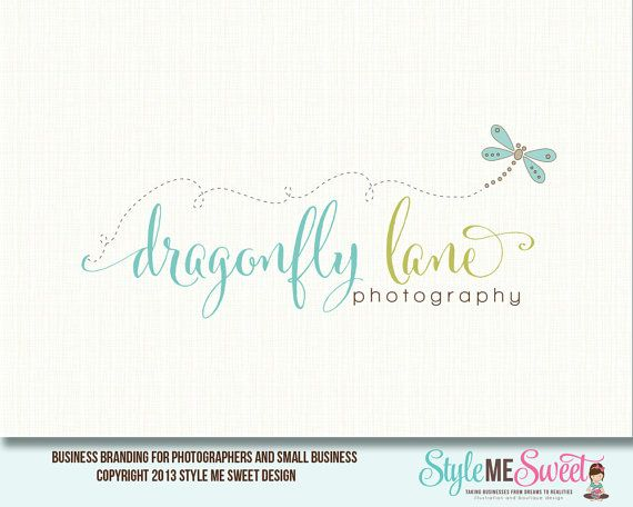 Dragonfly Logo Photography Logo Premade Logo от stylemesweetdesign