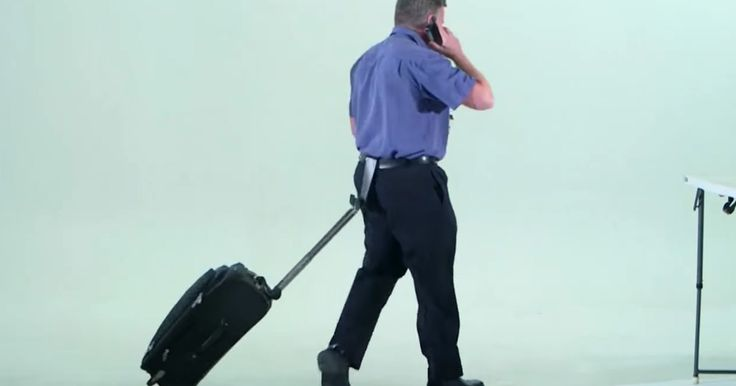 What's the deal with butt suitcases?