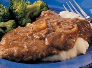 Crock Pot Cube Steaks with Gravy.  Gonna try this w/ Deer cubed meat