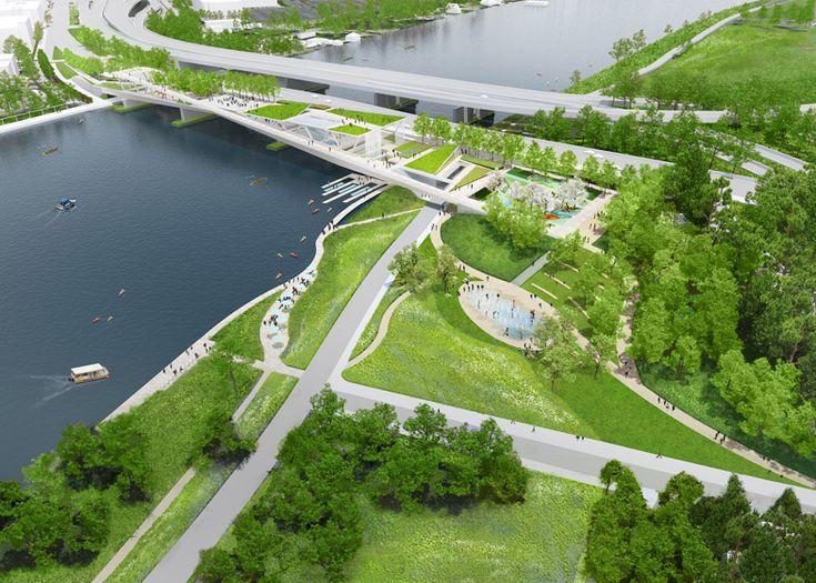 298 best bridges images on pinterest bridges architects for Landscape design competition