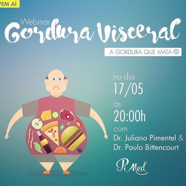 Tenho um convite muito especial para fazer para vocês hoje!  Eu e o Dr. Paulo faremos um bate papo sobre Gordura Visceral. Oportunidade única para você tirar todas as suas dúvidas a respeito da gordura que mata! Chame todos os seus amigos para participar a palestra é online e gratuita. O link para inscrição está na minha Bio.  Conto com a participação de todos! #gordura #gorduravisceral #gorduraquemata #alimentacao #palestra #webinar #3vezesmaissaude #pimed