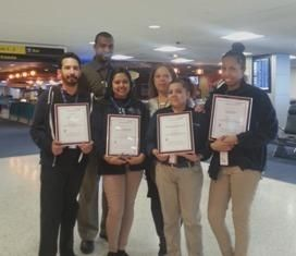 Congrats to Hudson's JFK Airport Terminal 7 team! --> The team received 6 Concessions Employee of the Year Awards from the terminal's management for customer service.
