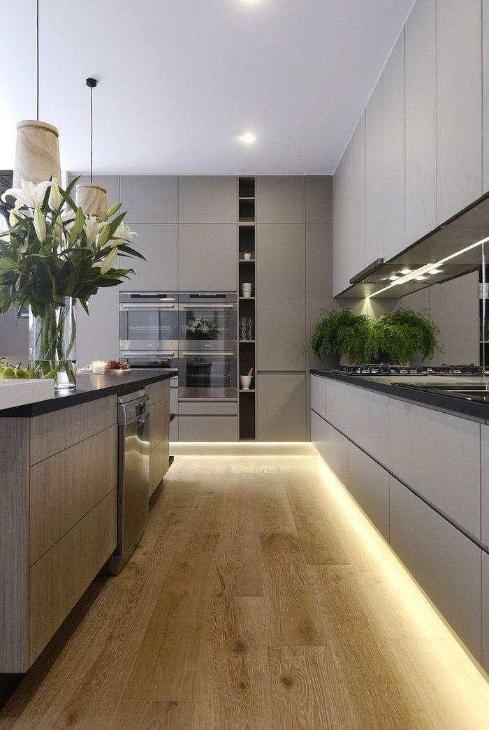 1001 Idees Deco Tendance Pour L Amenagement D Une Cuisine Gris Clair Cuisine Moderne Cuisine Minimaliste Cuisines Design