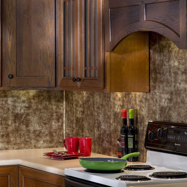 Decorative Wall Tiles For Kitchen Backsplash Fasade Traditional Style #6 Backsplash In Oil Rubbed Bronze 18