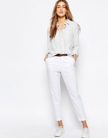 Смотреть женщин в белых брюках фото 705-973