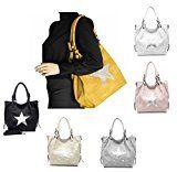 """ital-design Damen XXL Stern Tasche """"Stella"""" Shopper Henkeltasche Handtasche Schultertasche Umhängetasche: Modische und ganz angesagte Damen…"""