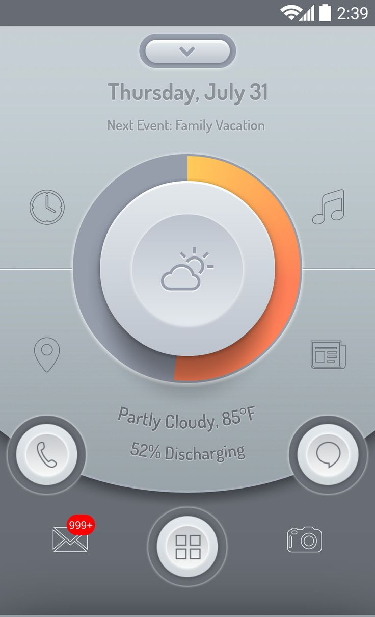 Big Button for Themer Android Homescreen by Themer - MyColorscreen