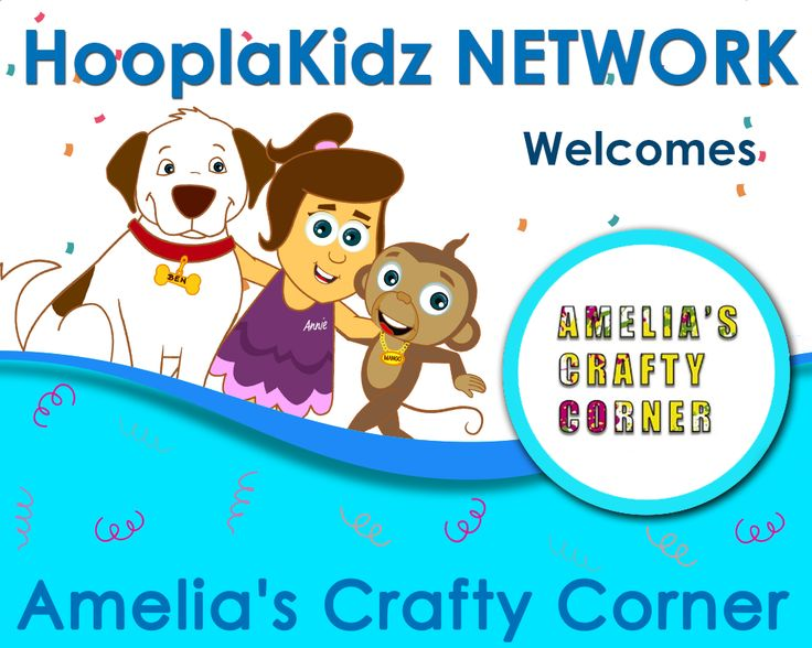 Join us in welcoming Amelia's Crafty Corner to the  🌈 HooplaKidz Network! 🌈  ->