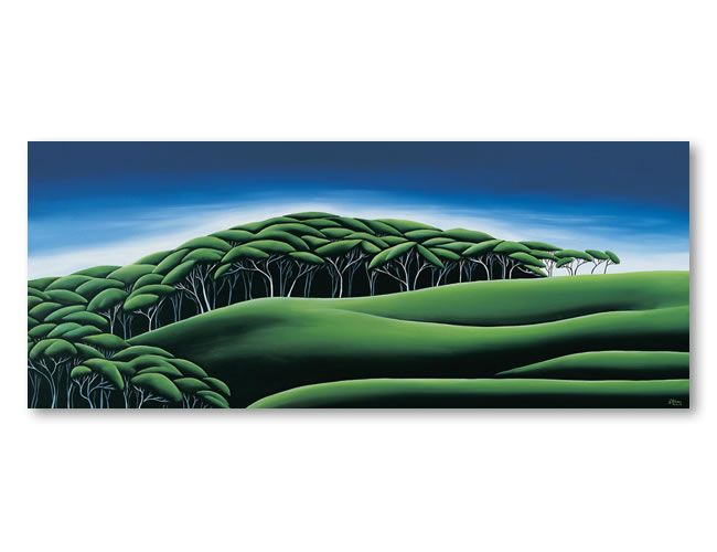 Manuka Grove. Diana Adams, NZ Artist.