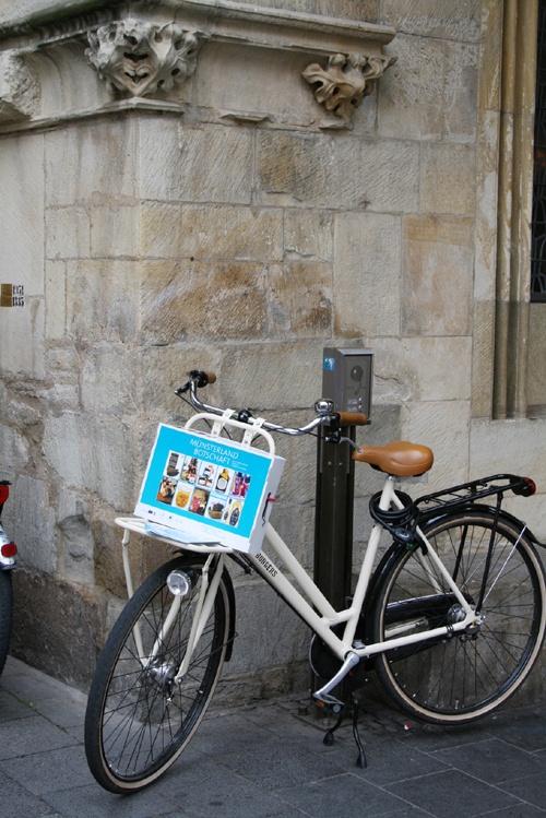Münsterland Botschaft vor Rathaus Münster
