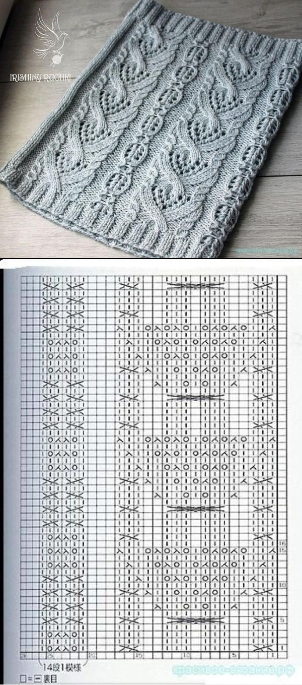 Aran Lace Snood with Chart