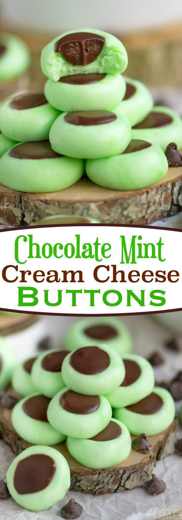 These Chocolate Mint Cream Cheese Buttons are perfect for all occasions! Lovely mint flavored cream cheese mints filled with a decadent chocolate ganache. Guaranteed to be a hit with your chocolate an